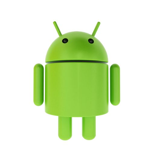 3D green android caricature